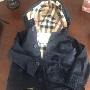 Toddler Boy Navy Burberry jacket